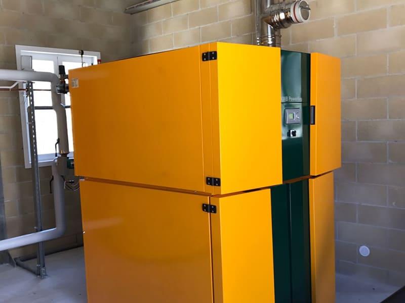 Centrale termica a biomasse installata a Caprese Micheangelo