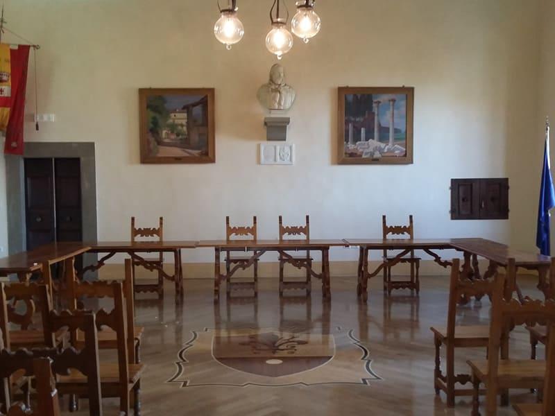 Centrale termica e impianto radiante a pavimento presso edificio storico comune di anghiari