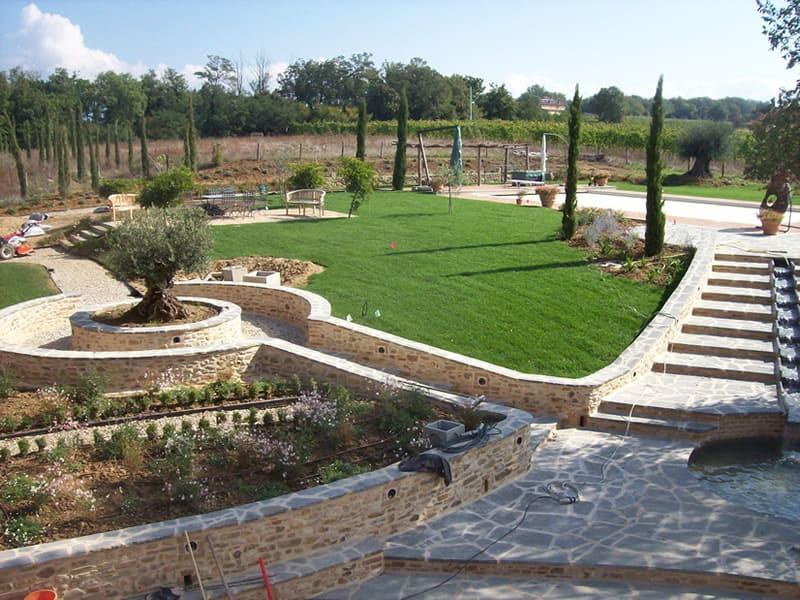 Impianto di irrigazione per giardino privato realizzato ad Anghiari