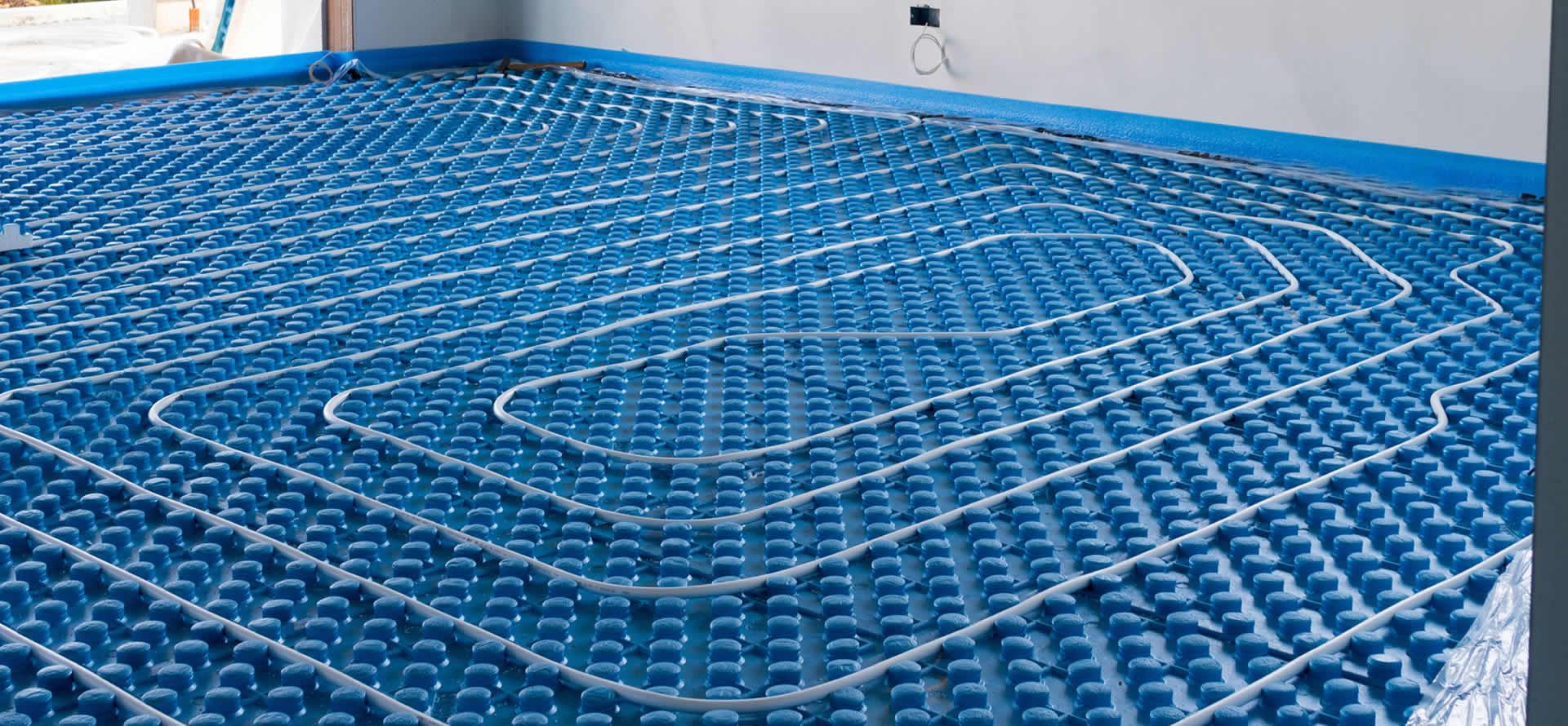 Sistema radiante riscaladamento a pavimento abitazione